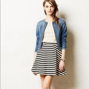 Anthropologie Stripeswing Skirt by Maeve